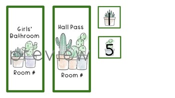 Editable Succulent / Cactus Decor Mini Growing Bundle