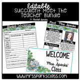 Editable Succulent Meet the Teacher Bundle