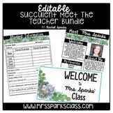 Editable Succulent Meet the Teacher Bundle