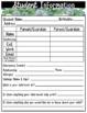 Editable Succulent Meet the Teacher Forms