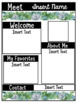 Editable Succulent Meet the Teacher Template