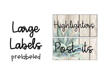Editable Succulent Teacher Toolbox Labels