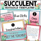 Editable Succulent Label Templates (Various Sizes)