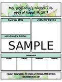 Editable Succulent Themed Newsletter