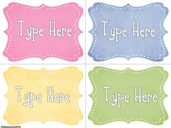 Editable Suede Stitched Labels