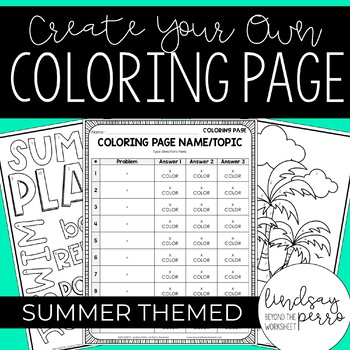 Editable Summer Coloring Pages