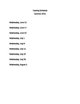 Editable Summer Tutoring Letter