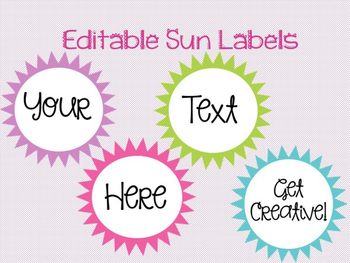 Editable Sun Labels
