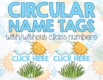 Editable Desk Name Plates/Name Tags - Sunny Days
