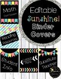 Editable Binder Covers Sunshine Theme Classroom Decor