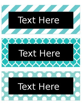 Editable Sunshine Labels--12 Designs!!