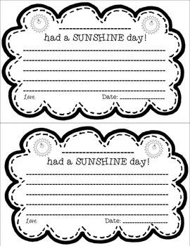 {Editable} Sunshine Notes Freebie