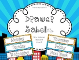 Editable Super Hero/Comic Drawer Labels - File, Copy, Grade, Days of Week