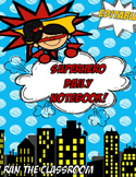 Editable Super Hero Daily Binder 2