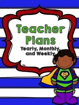 Editable Super Hero Teacher Planner