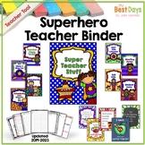 Editable Super Hero 2018-2019 Teacher Planner