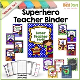 Editable Super Hero 2019-2020 Teacher Planner