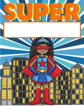 Binder and Folder Covers - Super Hero Theme Editable