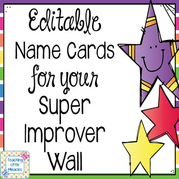 Editable Super Improver Wall Name Cards