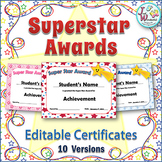 Editable Awards and Editable Certificates