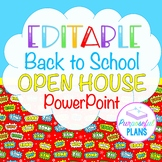 Editable Superhero Background Back to School/Open House/Me