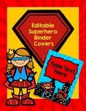Editable Superhero Binder Covers