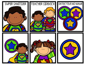 Editable Superhero Classroom Jobs