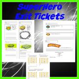 Editable Superhero Exit Tickets