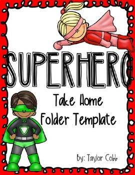 Editable Superhero Folder Template