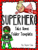 Editable Superhero Folder Template