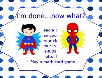Editable Superhero I'm Done Board