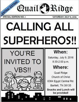 Editable Superhero Invitation