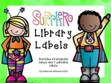 Editable Superhero Library Labels