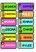 Editable Superhero Name Tags