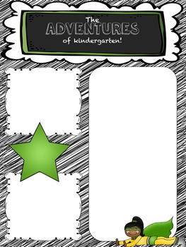 Editable Superhero Newsletter for Kindergarten, 1st grade,