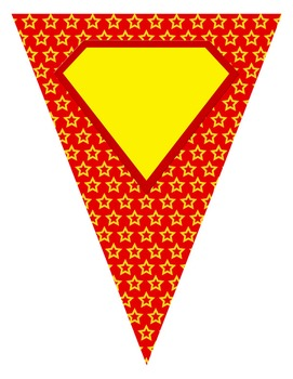Editable Superhero Pennants and Banners