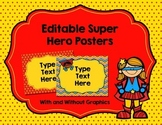 Editable Superhero Posters