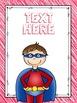 Editable Superhero Teacher Binder Covers