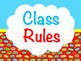 Editable Superhero Theme Class Rules Posters
