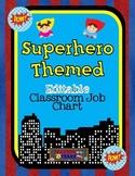 Editable Superhero Themed Job Chart