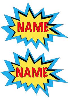 #Ausbts17 Editable Superhero Themed Name Tags
