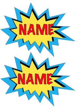 #ausbts18 EDITABLE Superhero Themed Name Tags