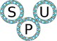 Editable Superhero themed bulletin board letters or labels