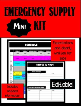 Editable Supply Mini Kit