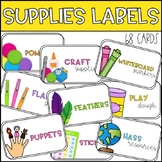 Editable Supply Tub Labels