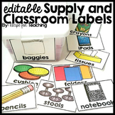 Editable Supply and Classroom Labels