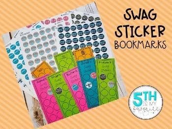 Editable Swag Sticker Bookmarks