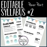 Editable Syllabus #2 (Power Point)