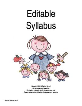 Editable Syllabus