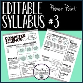 Editable Syllabus #3 (Power Point)